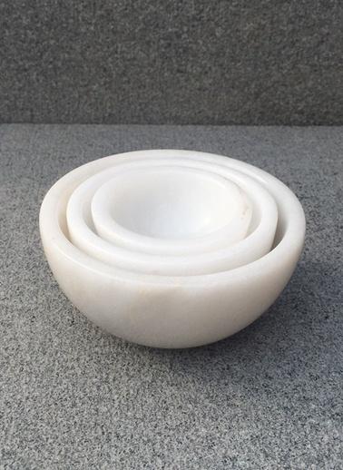 Bianco Mermer Sosluk 3 lu Set-Mat For Home